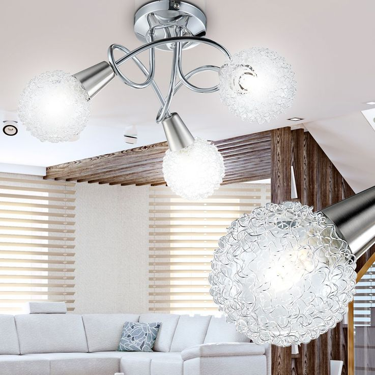 Ceiling light chrome ball light lamp ceiling lamp fixture light Globo 63179-3 – Bild 4