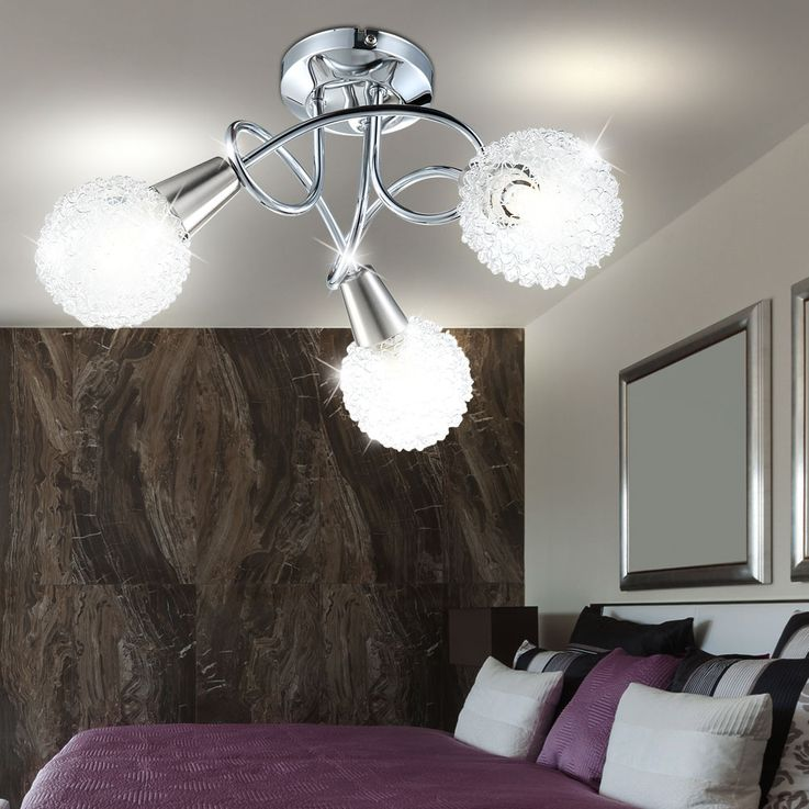 Ceiling light chrome ball light lamp ceiling lamp fixture light Globo 63179-3 – Bild 2