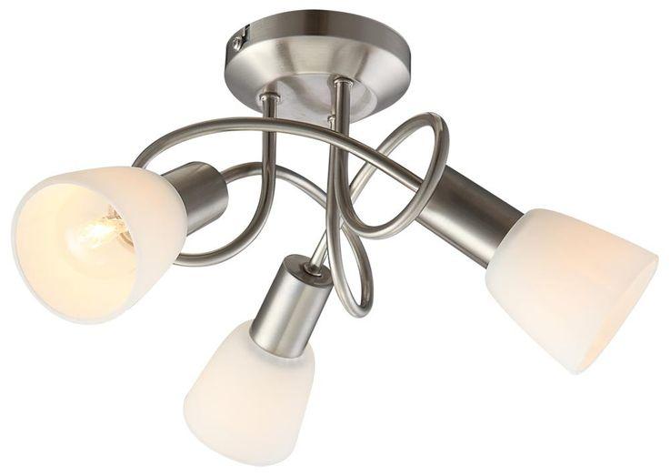 Éclairage plafonnier nickel verre lampe lumière  GLOBO 54539-3 / 5441539-3 – Bild 1