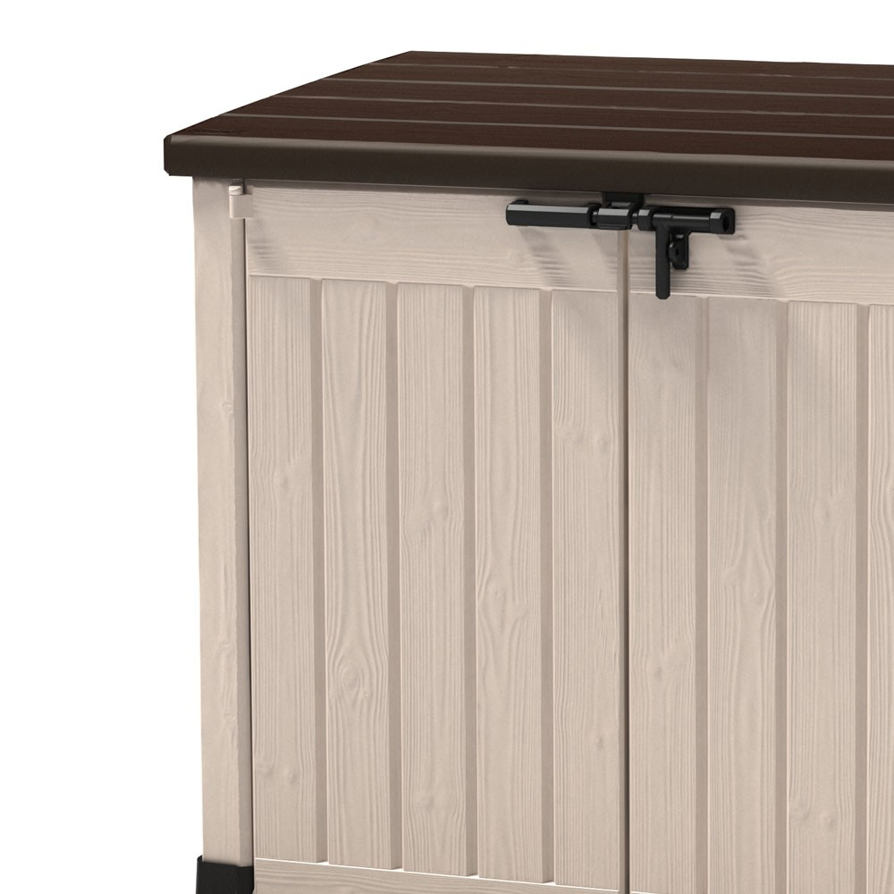 gartenbox box garten terrasse auflagebox truhe kiste holzoptik auflage beh lter ebay. Black Bedroom Furniture Sets. Home Design Ideas