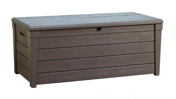 Auflagebox Geräte Box Garten Kiste Truhe Holzoptik in Holzoptik KETER BRIGHTWOOD BOX 455 l – Bild 6