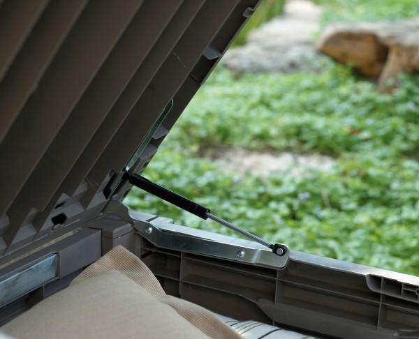 Auflagebox Geräte Box Garten Kiste Truhe Holzoptik in Holzoptik KETER BRIGHTWOOD BOX 455 l – Bild 3