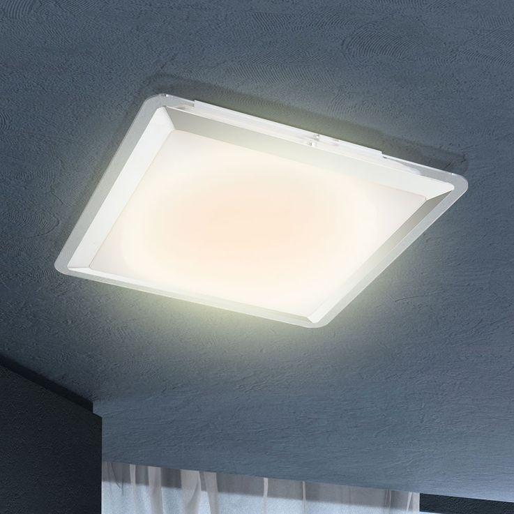 12 Watt LED ceiling light chrome plastic home lighting hallway Globo 41612 – Bild 4