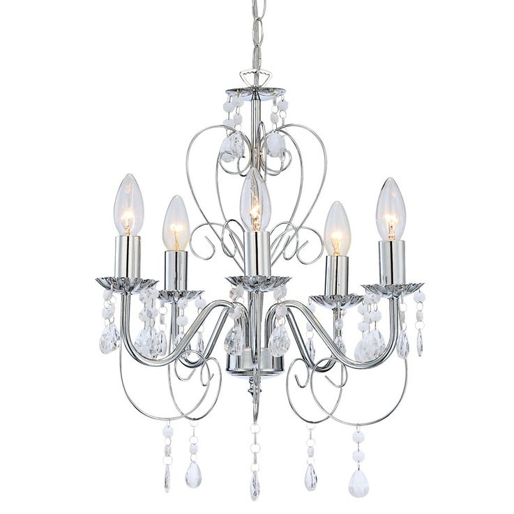 Design chandelier chandelier ceiling lamp ceiling light chrome Globo 63128-5 Pinja – Bild 3