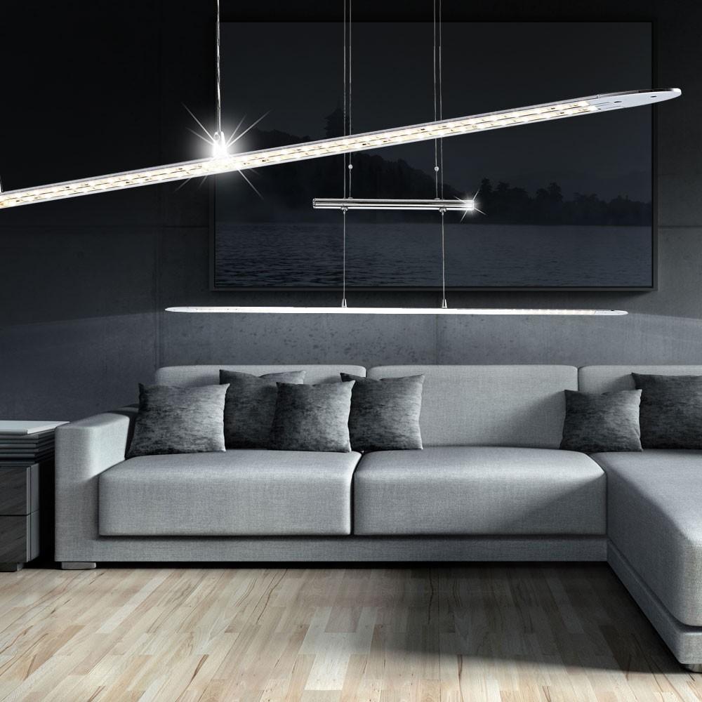 moderne led h ngeleuchte aus chrom telesto lampen m bel innenleuchten h ngeleuchten. Black Bedroom Furniture Sets. Home Design Ideas