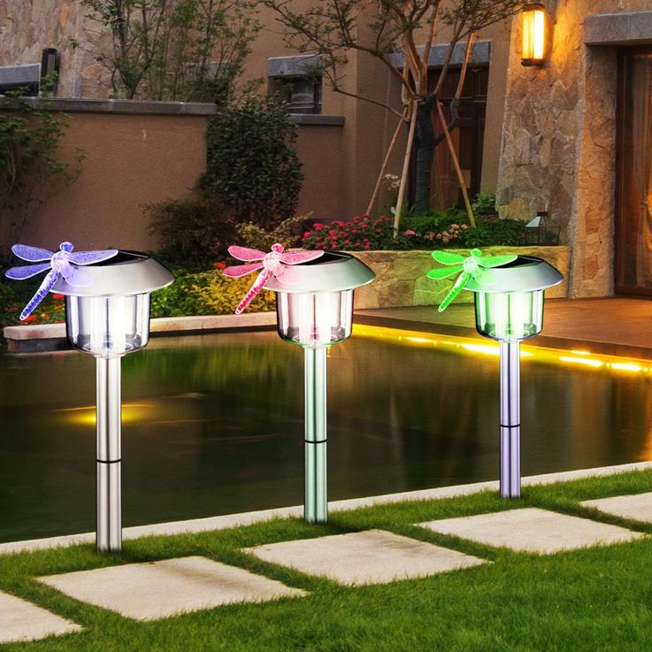 LED solar light with dragonfly above for solar panel – Bild 6