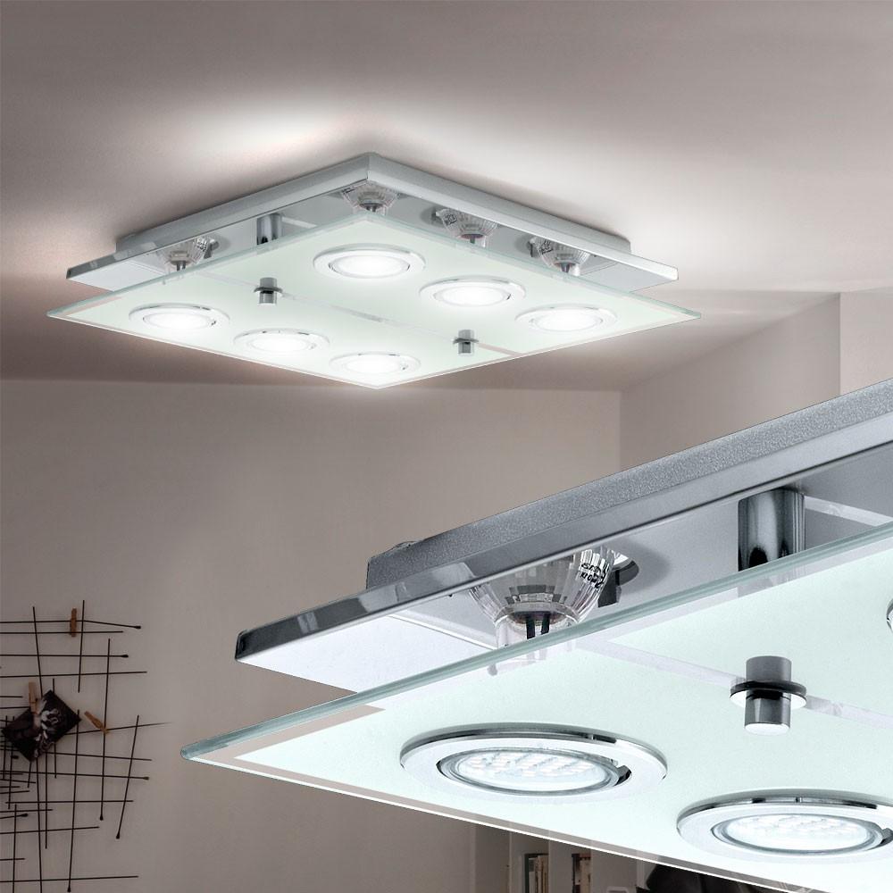 Design led edelstahl deckenleuchte esszimmer chrom for Deckenleuchte esszimmer