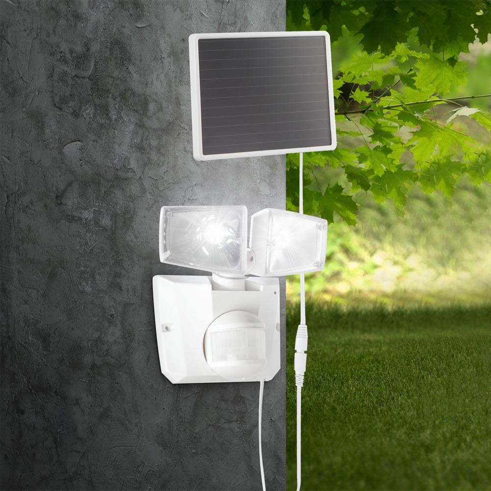 led solar leuchte aussen lampe strahler solarlampe bewegungsmelder wandleuchte ebay. Black Bedroom Furniture Sets. Home Design Ideas