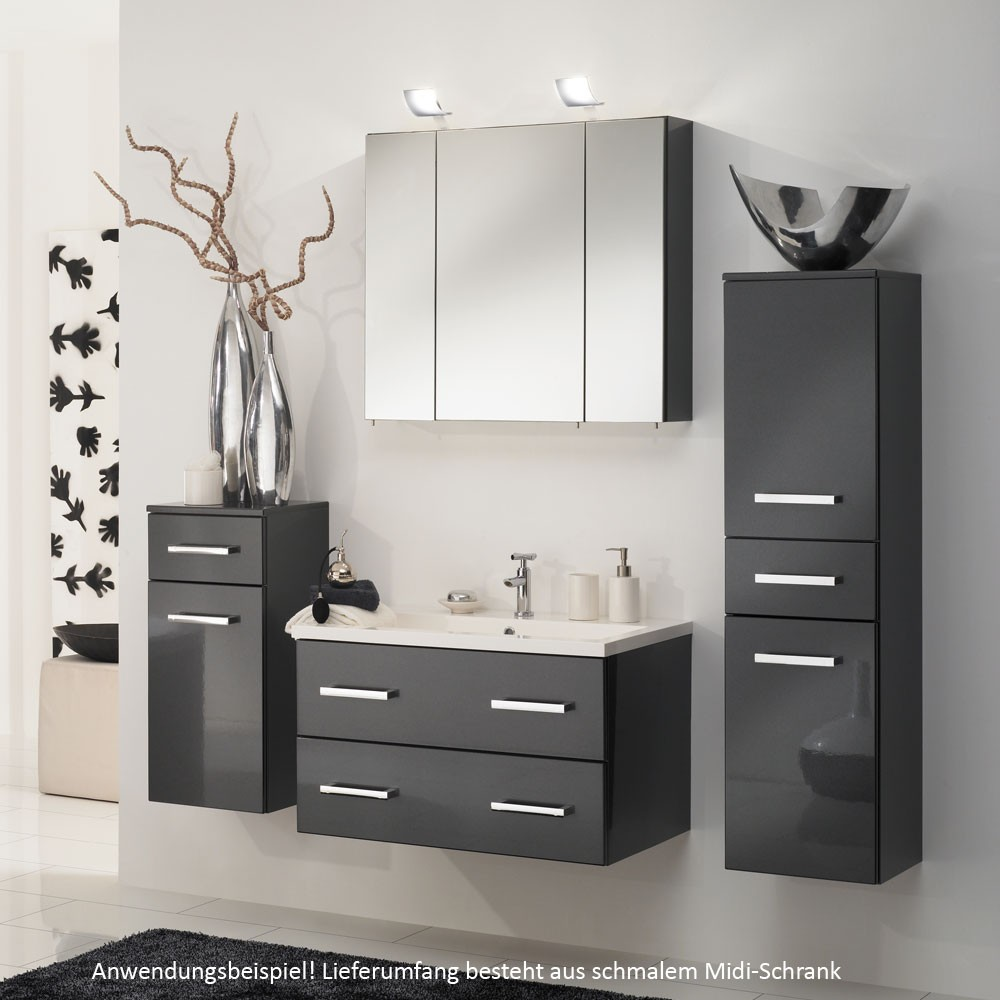 midischrank hochschrank schrank bad badezimmer mdf schmal. Black Bedroom Furniture Sets. Home Design Ideas