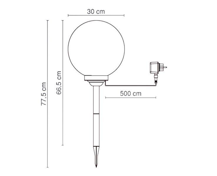 Lampe extérieure DEL 2,25W luminaire jardin boule outdoor éclairage Globo 33824 – Bild 12