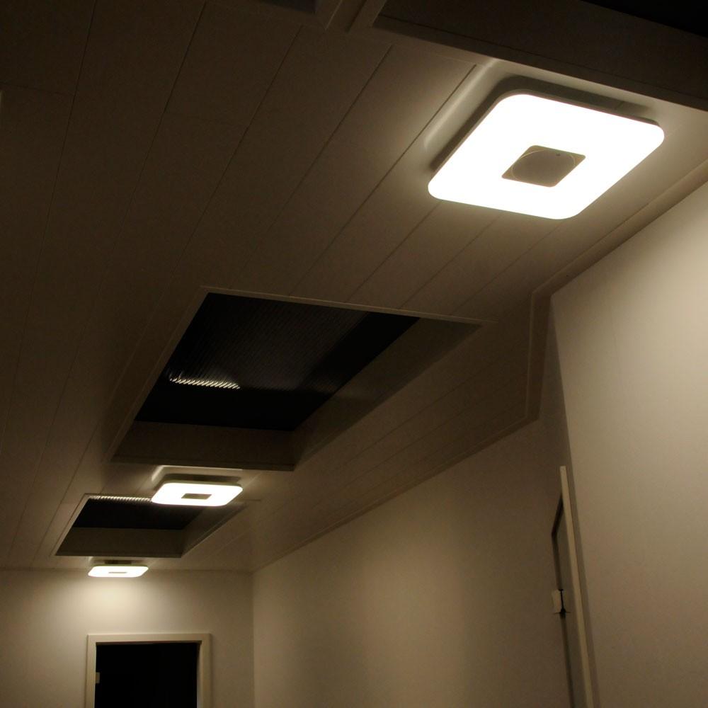 led decken beleuchtung dimmbar fernbedienung flur k chen lampe esszimmer leuchte ebay