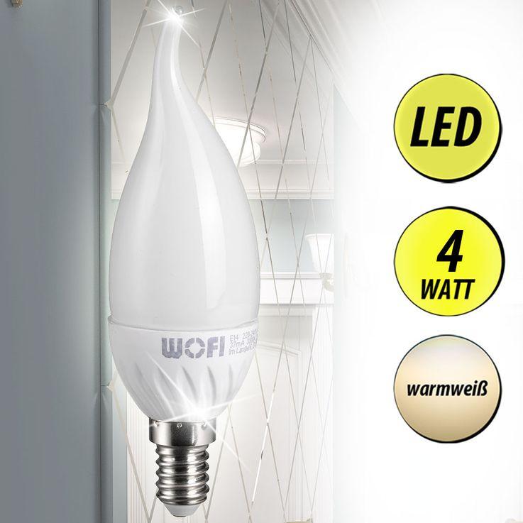 Design LED 4 Watt Leuchtmittel mit E14 Sockel EEK A+ – Bild 2
