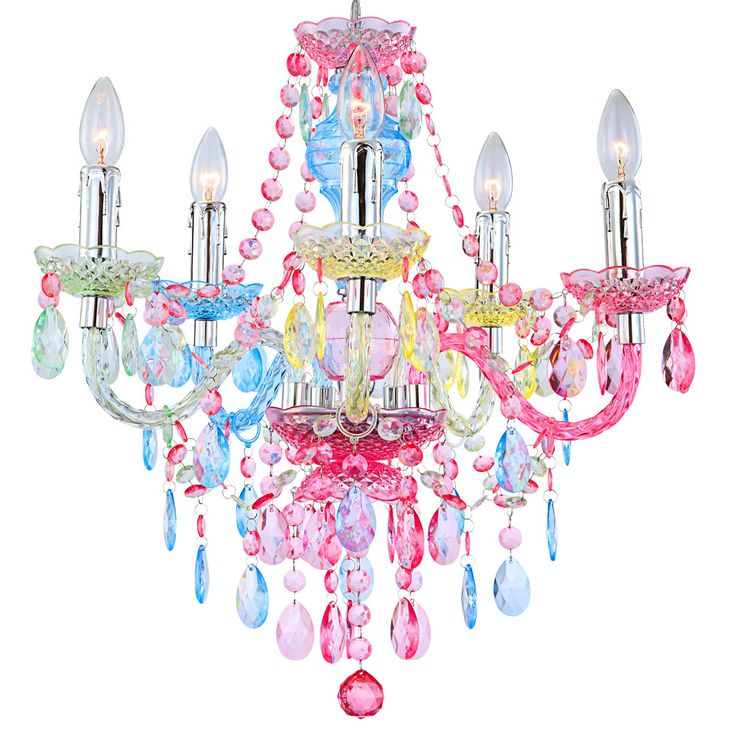 Hanging lamp pendant lamp chandelier chandelier lighting lamp light rainbow colors colorful height 149cm – Bild 5