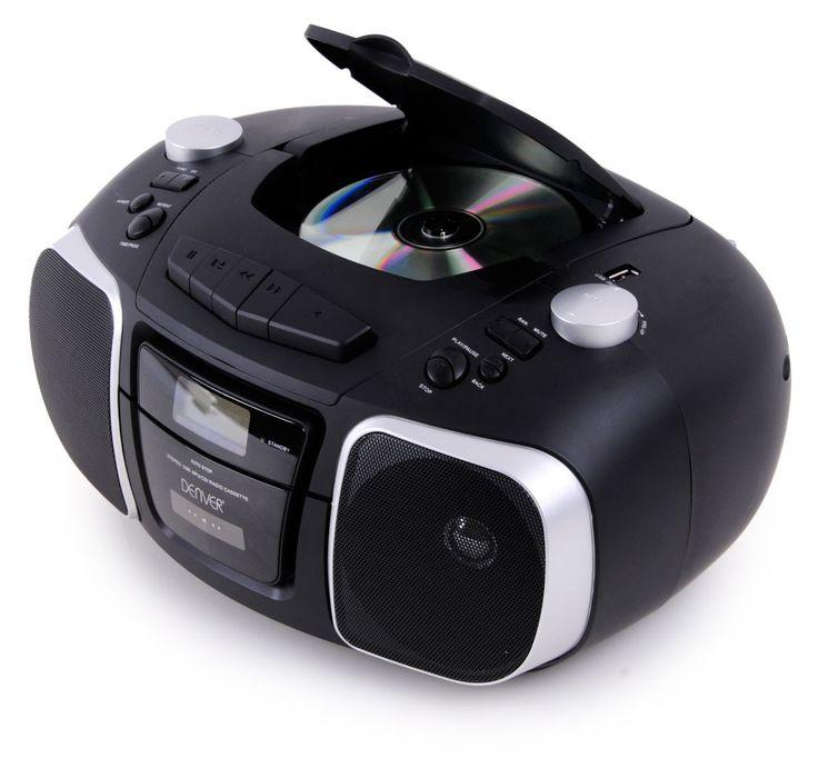 Tragbare Stereoanlage USB MP3 Radio Kassettenspieler Denver TCU-61 schwarz – Bild 3