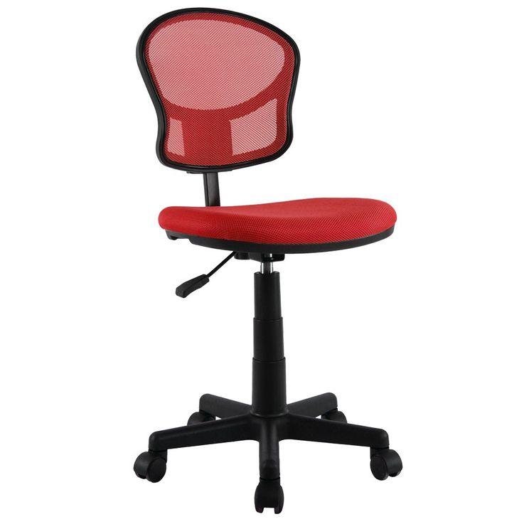 Schreibtischstuhl Bürostuhl Stuhl Chefsessel Möbel Drehstuhl Arbeitsstuhl Babsi rot – Bild 1