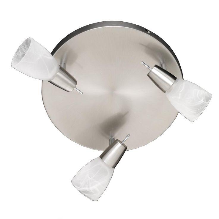 Ceiling ceiling swivel white Alabaster Glass 3 x IP20 spots diameter 30 cm WOFI 996303640000 – Bild 4