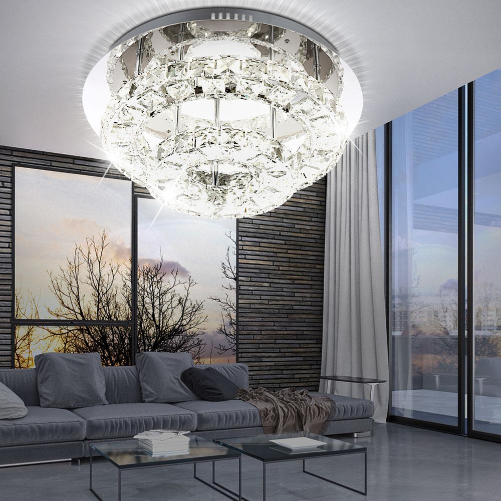 LED Wand Spot Lampe Glas klar Chrom Beleuchtung Flur Diele Leuchte Big.Light