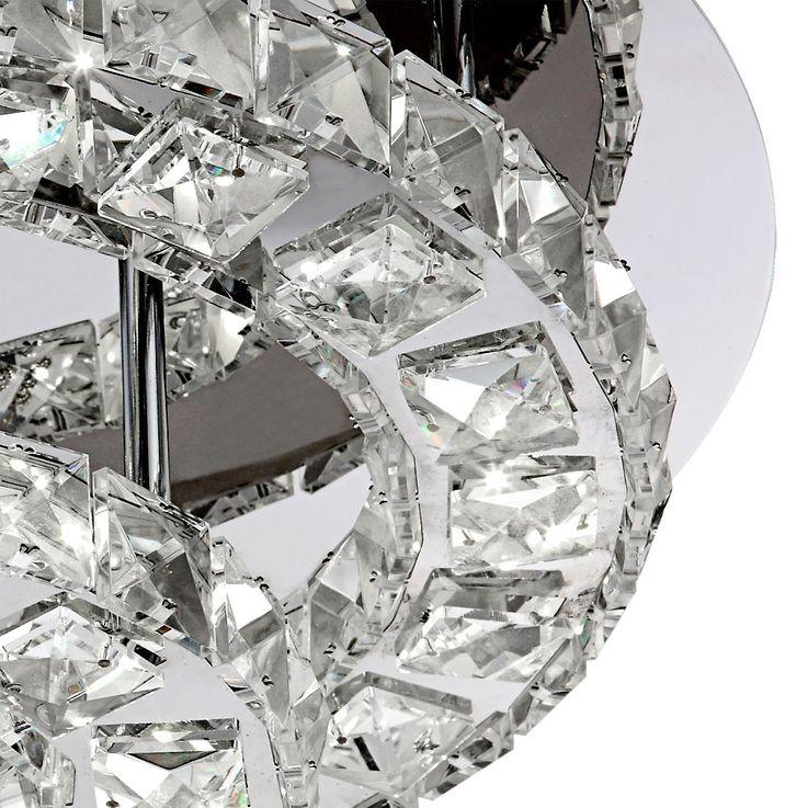 Moderne LED Deckenleuchte aus Chrom mit Acrylkristallen – Bild 6