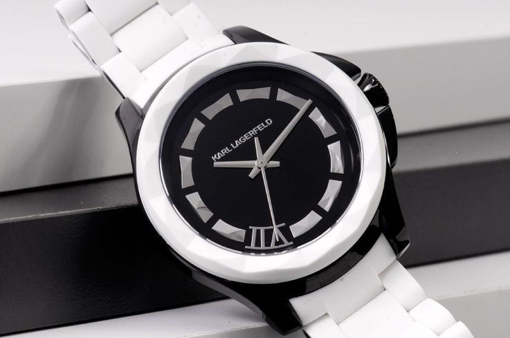 Black and white ladies watch by Fossil Karl Lagerfeld KL1015 – Bild 2