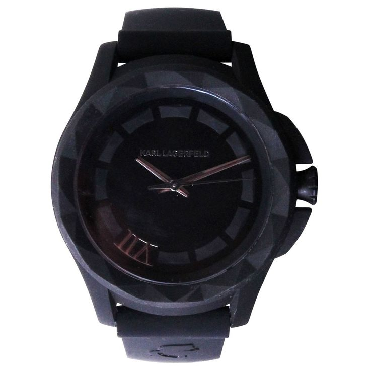 Unisex wristwatch stainless steel quartz clock silicone black Karl Lagerfeld by Fossil KL 1023 – Bild 1