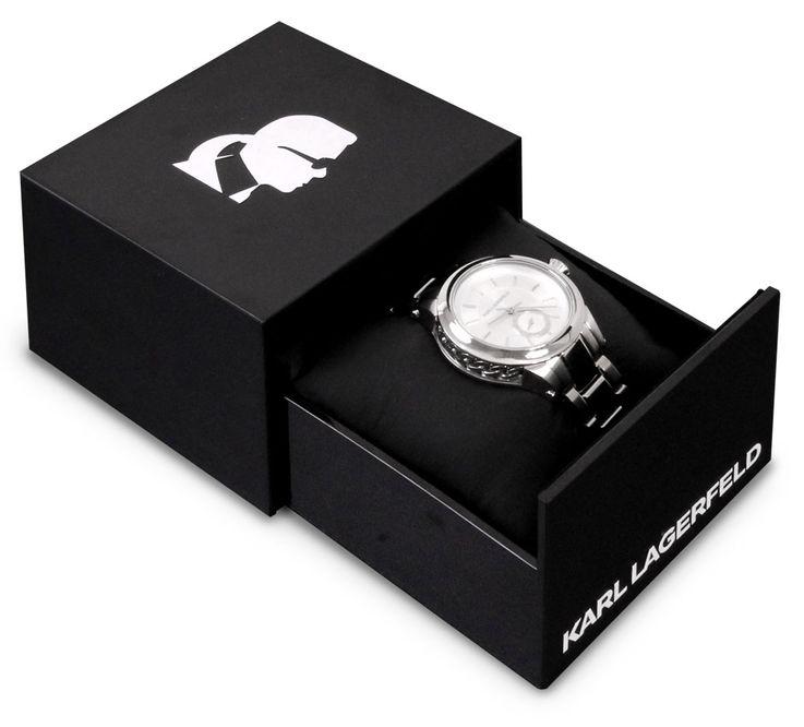Unisex Armbanduhr Armband Uhr Chronograph silbern Edelstahl Karl Lagerfeld by Fossil KL 1204 – Bild 6