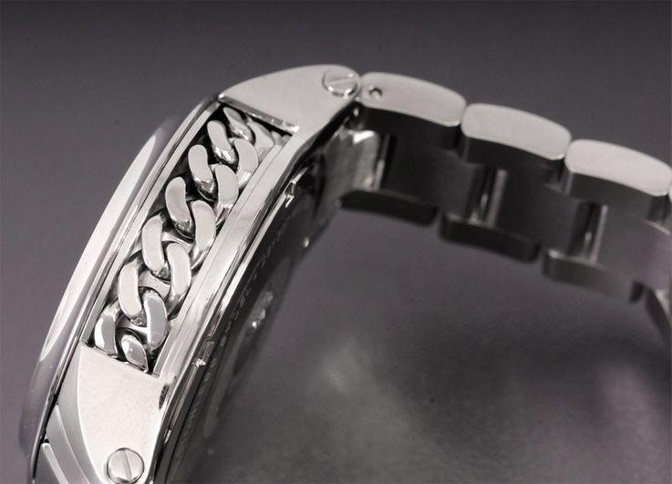 Unisex Wrist Bracelet Clock Chronograph Stainless Steel Silver Karl Lagerfeld by Fossil KL 1204 – Bild 4