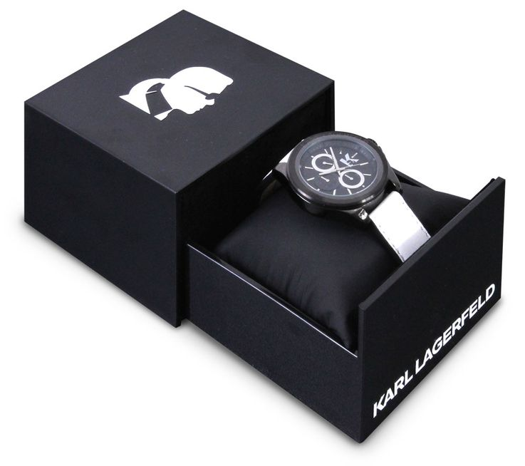 Unisex watch black leather strap Chronograph Stainless Steel Clock by Karl Lagerfeld KL 1408 Fossil – Bild 1