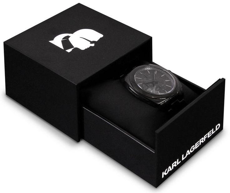 Herren Armbanduhr Herrenuhr Chronograph Stoppuhr schwarz Edelstahl Karl Lagerfeld by Fossil KL 1601 – Bild 3