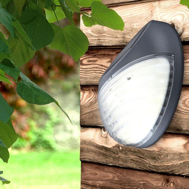 Moderne LED Zaun Solarleuchte aus Kunststoff in grau – Bild 7