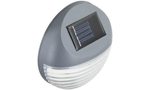 Moderne LED Zaun Solarleuchte aus Kunststoff in grau – Bild 10