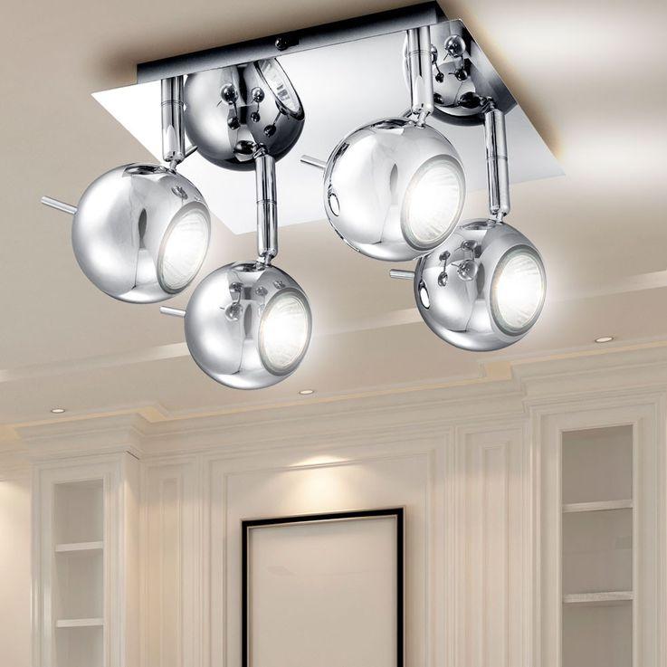 LED plafonnier dans look chrome – Bild 5