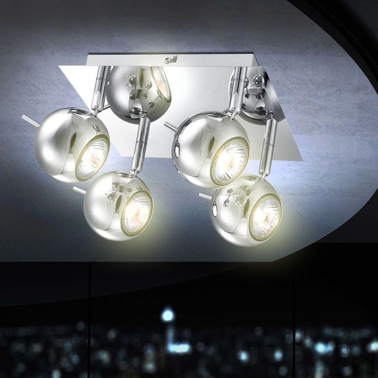 LED ceiling lamp in chrome look – Bild 4