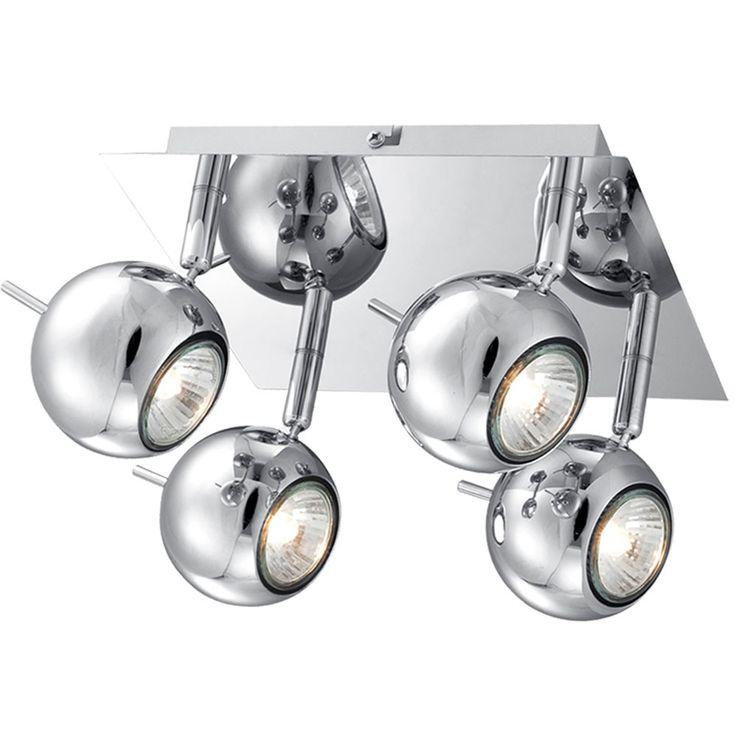 LED ceiling lamp in chrome look – Bild 1
