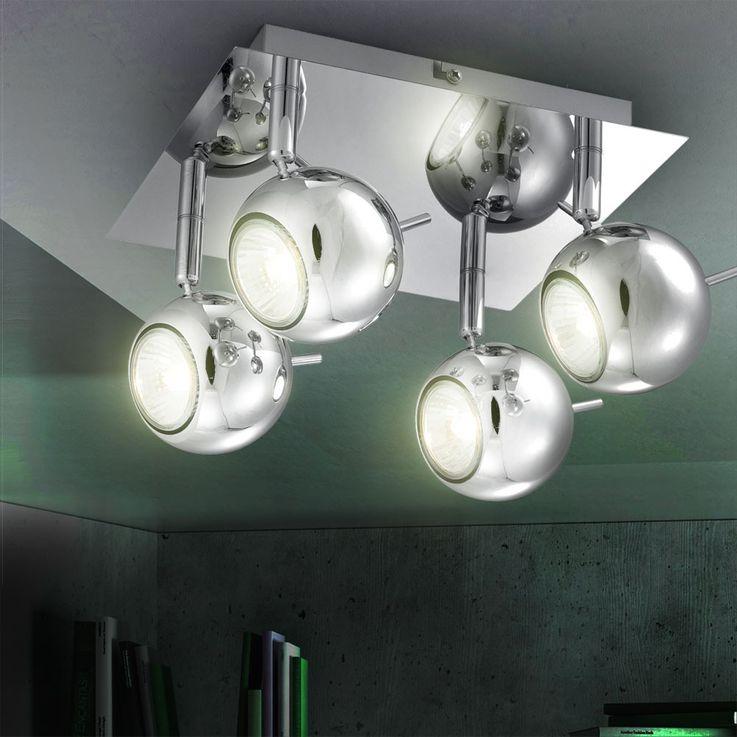 LED ceiling lamp in chrome look – Bild 2