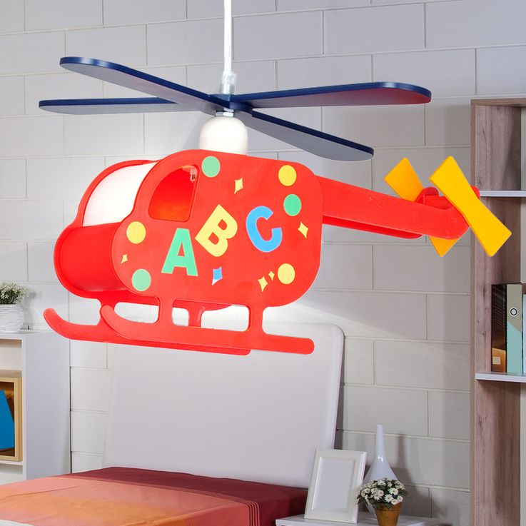 Pendant Lamp Hanging Lamp Kids Lamp Nursery Helicopter Helicopter colorful  Globo 15722 – Bild 5