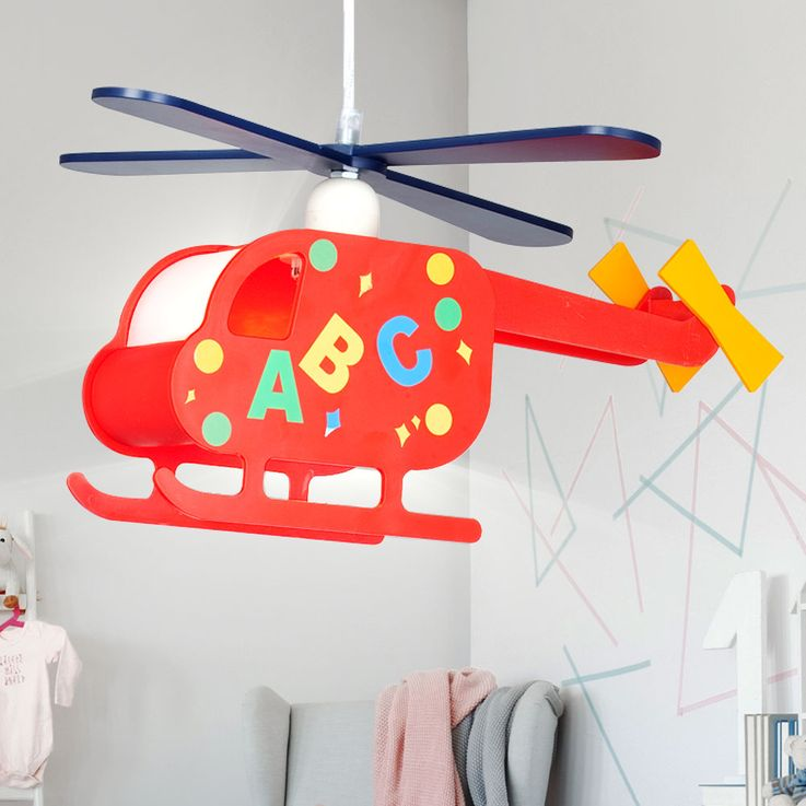 Pendant Lamp Hanging Lamp Kids Lamp Nursery Helicopter Helicopter colorful  Globo 15722 – Bild 1