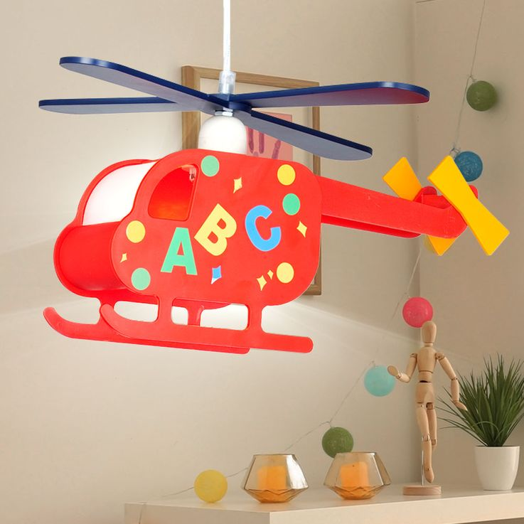 Pendant Lamp Hanging Lamp Kids Lamp Nursery Helicopter Helicopter colorful  Globo 15722 – Bild 3