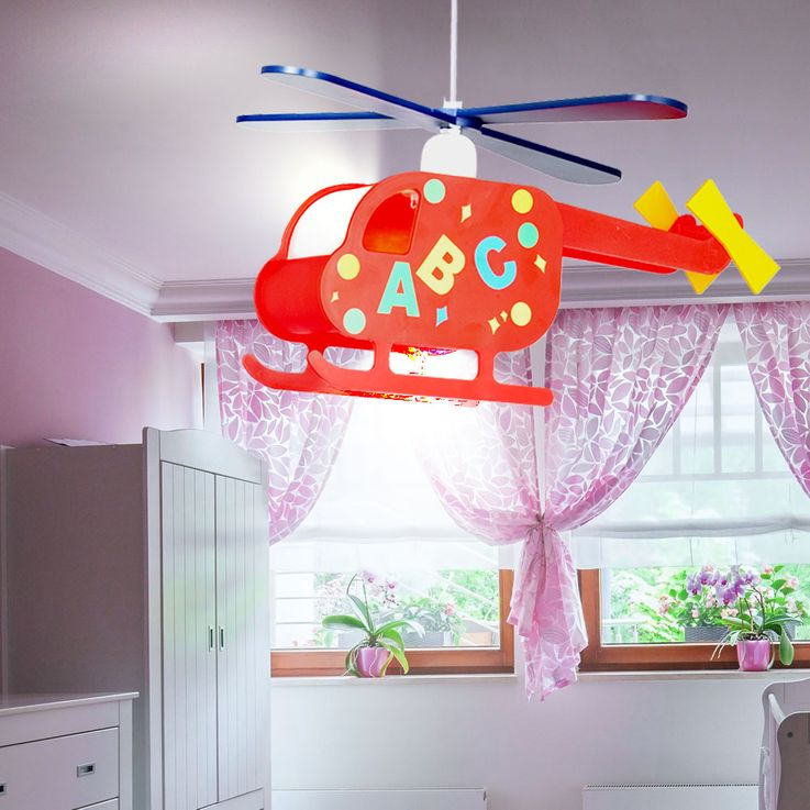 Pendant Lamp Hanging Lamp Kids Lamp Nursery Helicopter Helicopter colorful  Globo 15722 – Bild 7