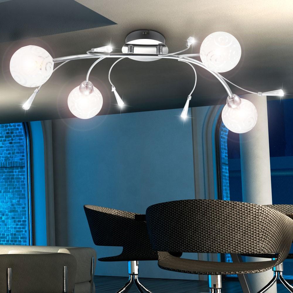 deckenleuchte mit glaskugeln mit ornamenten orlene lampen m bel innenleuchten. Black Bedroom Furniture Sets. Home Design Ideas