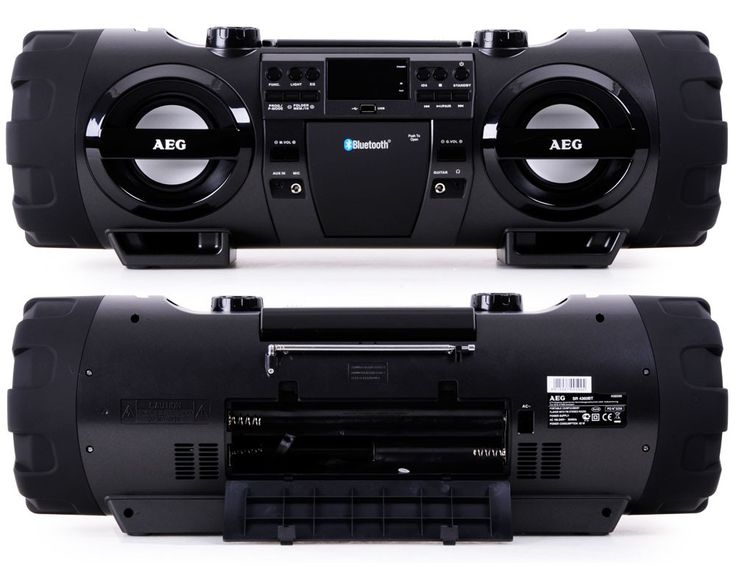 Stereoanlage Soundbox Ghettoblaster Boombox CD MP3 Bluetooth Radio AEG SR 4360 BT – Bild 2