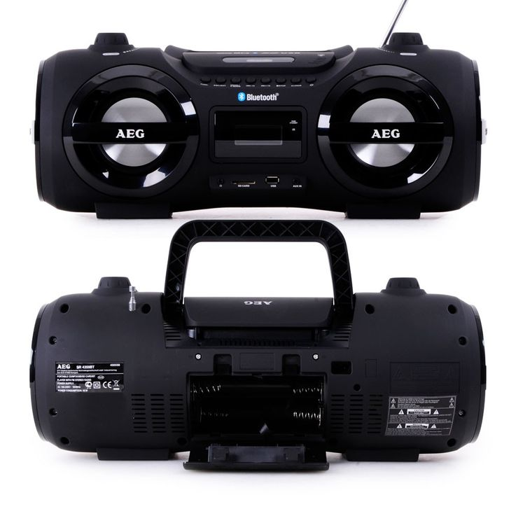 Stereo system sound box Ghettoblaster boombox CD MP3 Bluetooth FM AEG SR 4359 BT – Bild 3