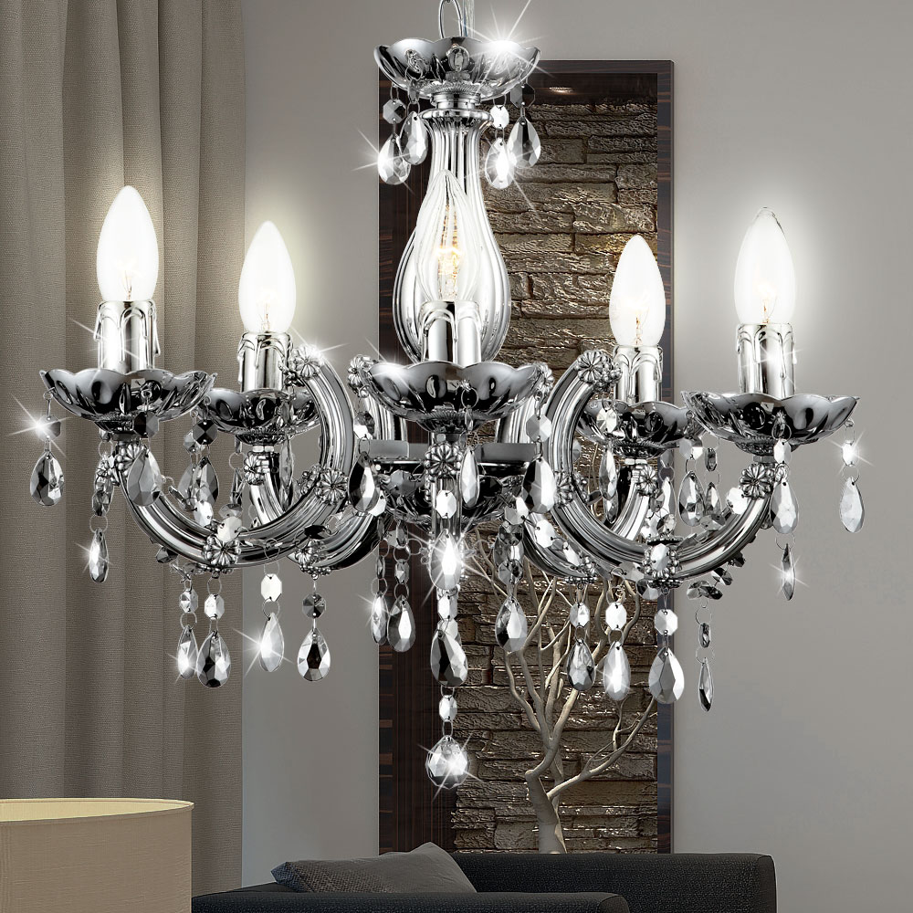 lustre couloir lampe suspendue suspension pour salon salle manger argent ebay. Black Bedroom Furniture Sets. Home Design Ideas