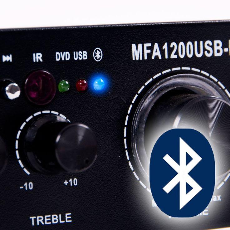 PA Party Karaoke Anlage Boxen Verstärker Bluetooth USB SD MP3 Funkmikrofon DJ-Compact 6 – Bild 6