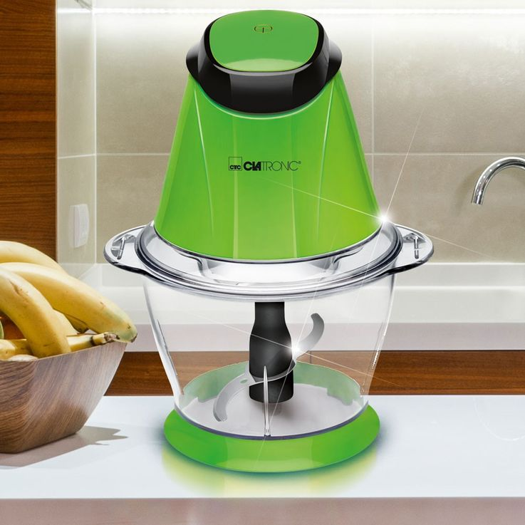 250 watt multiple chopper ICE Crusher 1 liter jug Stainless steel blades Clatronic MZ 3579 green – Bild 2
