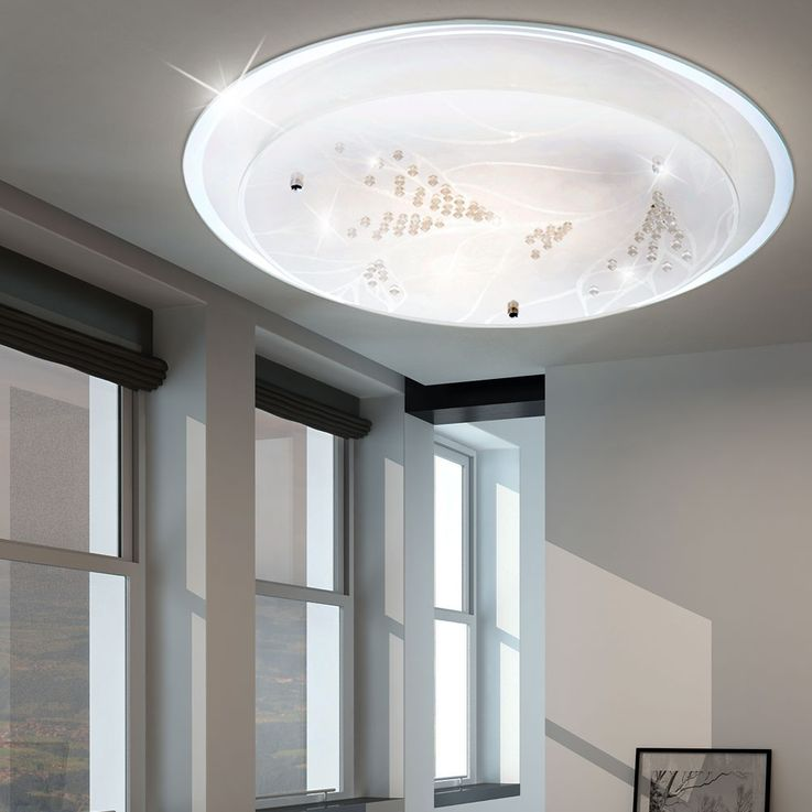 Ceiling lamp in a round design with floral decor ROTILLA – Bild 3
