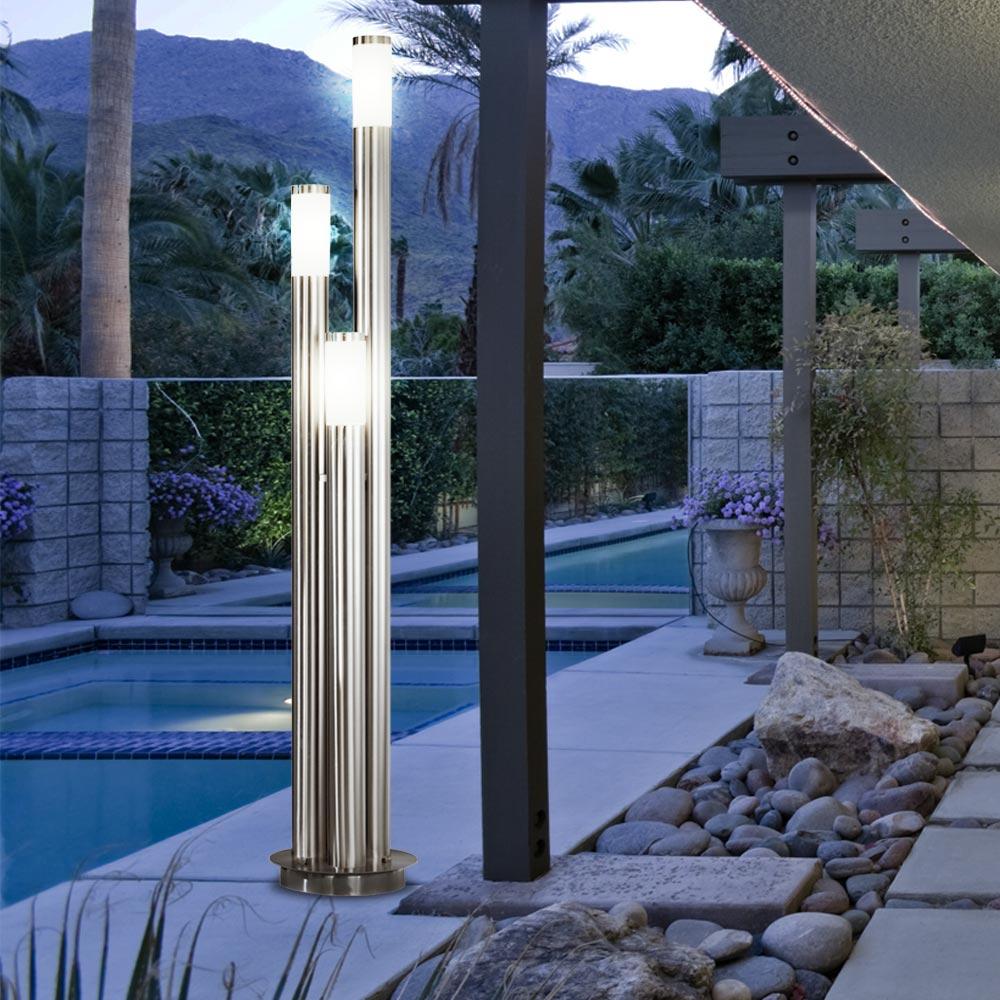 21w led au en lampe gartenl leuchte ip44 terrassen 3er weg hof beleuchtung 170cm ebay. Black Bedroom Furniture Sets. Home Design Ideas