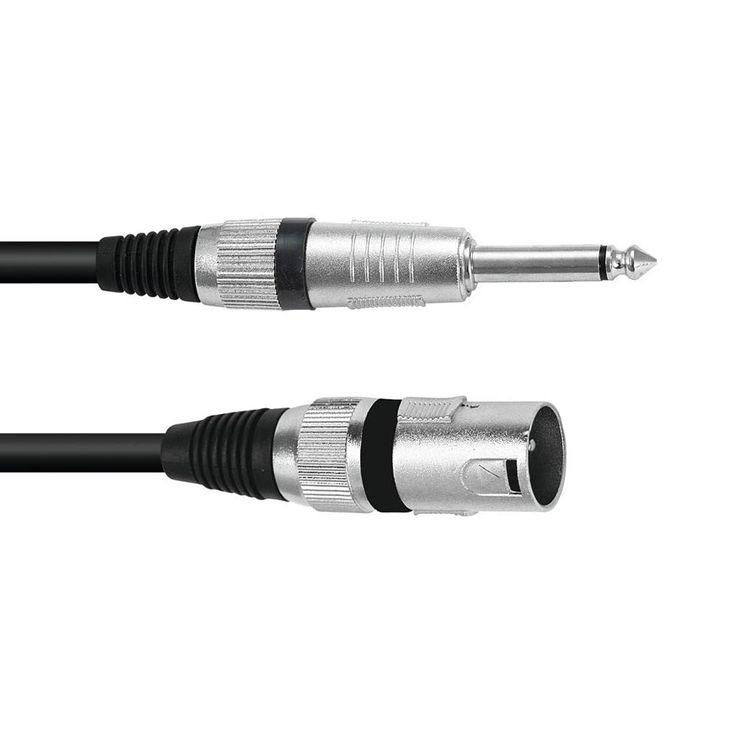 Robustes 3-pol XLR Anschlusskabel mit 6,3 mm klinkenstecker – Bild 1