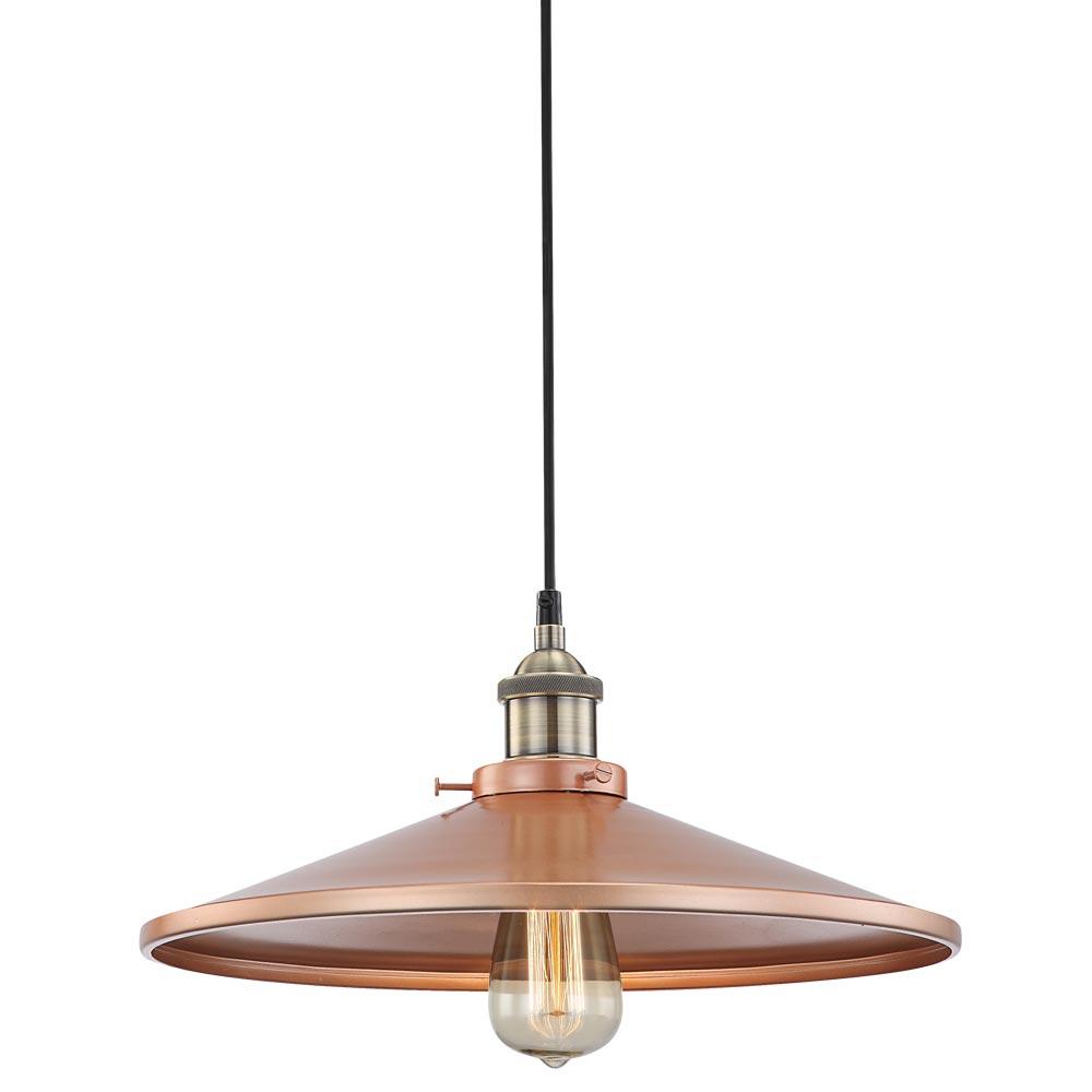 Hochwertige led h ngelampe aus kupferfarbenem aluminium for Hochwertige lampen