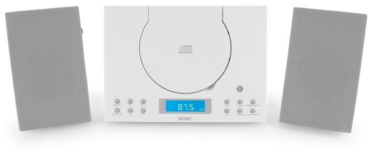 Stereo FM radio alarm clock Toploader CD Player AUX Denver MC-5010 white – Bild 2