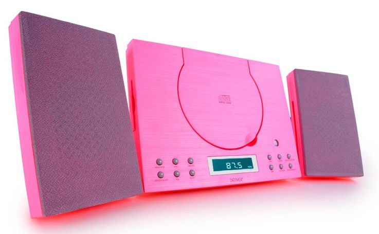 Musikanlage CD-Player Radio AUX-IN Stereoanlage Sound Audio Hi-Fi Denver MC-5010 pink – Bild 1